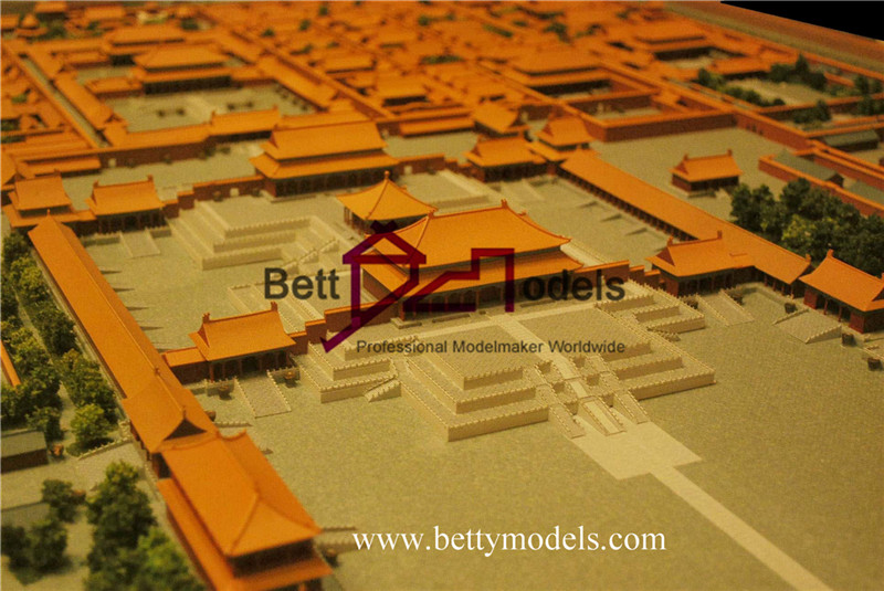 China Gugong old style scale models