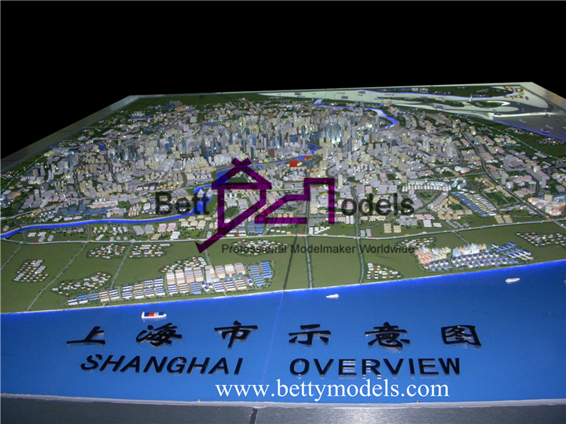 Shanghai city planning scale models
