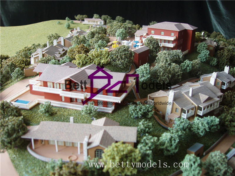 Topographic villa architectural models
