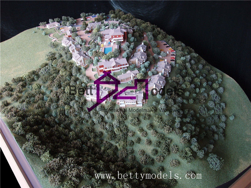 architectural house models with topography