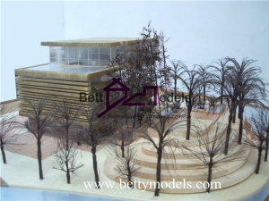 Scale wooden villa models